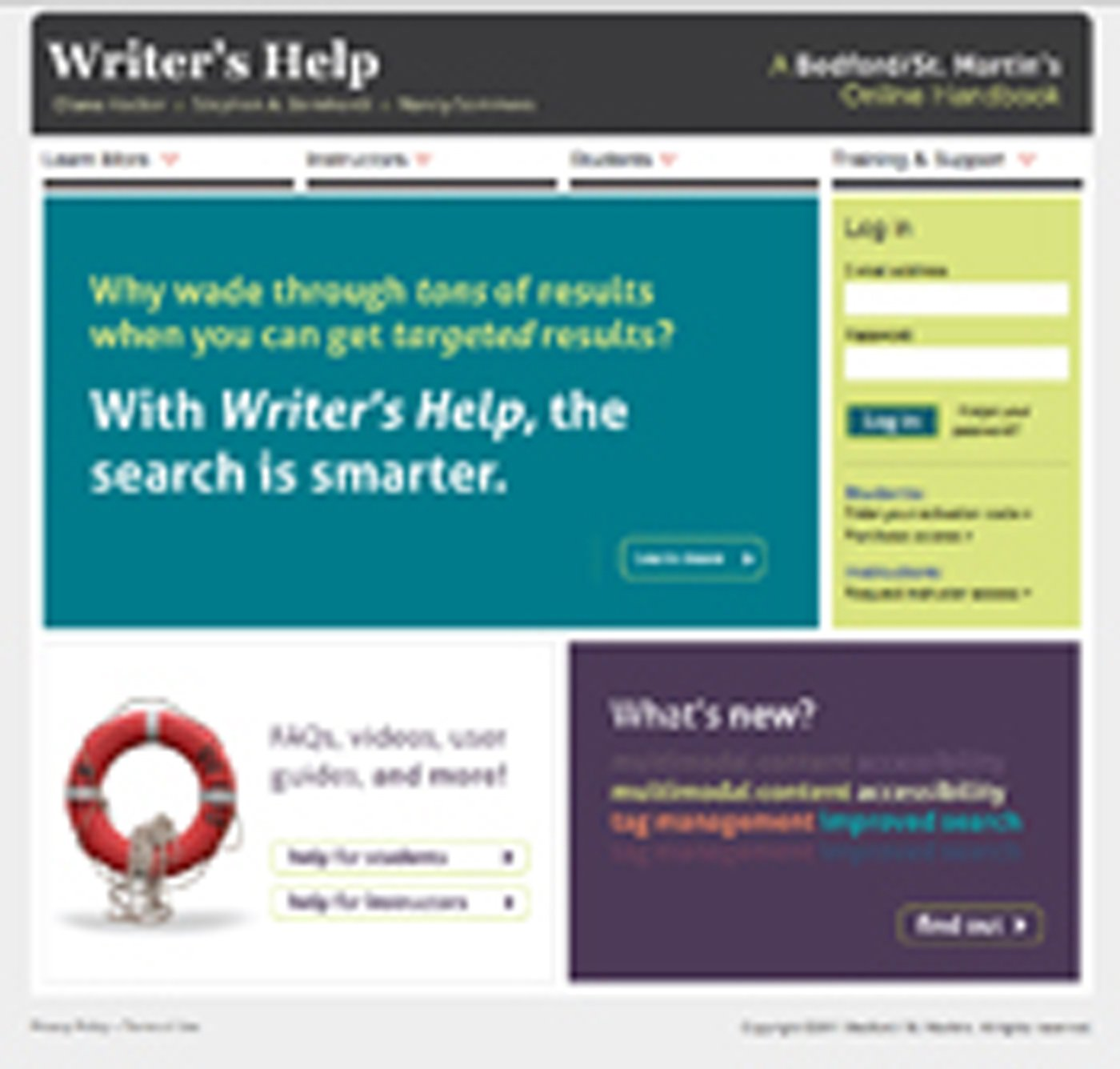 Download WRITER'S HELP 2 YEAR ACCESS WITH STUDENT GUIDE 2012 UPDATE pdf epub