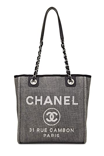 fc4fd037 Amazon.com: CHANEL Grey Canvas Deauville Small (Pre-Owned): Shoes