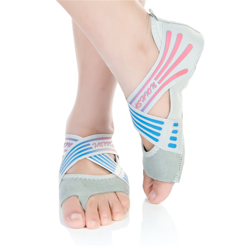 Barerun Girls' Women's Canvas Ballet Slipper/Ballet Shoe/Yoga Shoe (Little Kid/Big Kid/Women) Grey 8.5-9.5 B(M) Women