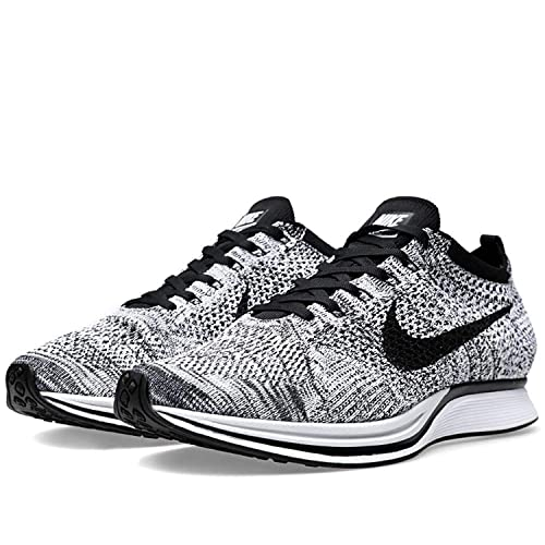 the best attitude ab675 a9e52 Nike Mens Flyknit Racer White Black-Volt Fabric Size 14  Buy Online at Low  Prices in India - Amazon.in