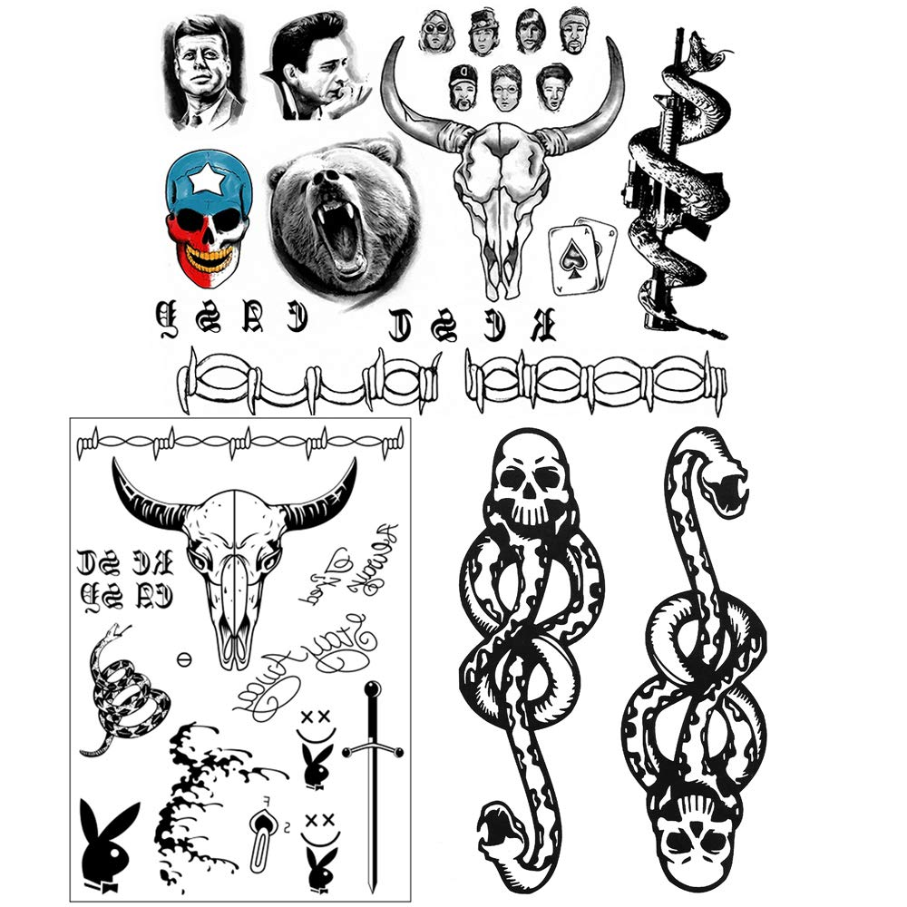Post Malone Face stickers Set,Face Neck Hands Arm Temporary Sticker for Adults Women Men Kids,Face stickers for Christmas Party Costume Accessories,3 Sheet
