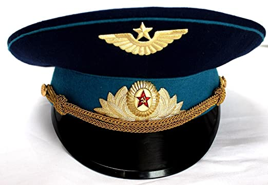c5be09aa14a25 Amazon.com: ORIGINAL Soviet USSR Air Force Officer Cap/Hat 1980th ...