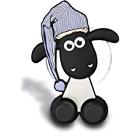 Nici 41483Shaun the Sheep Toothbrush Holder with Suction Cup, 5x 7x 2,5cm, colour: white/black/blue