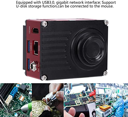 US PLUG 110-240V Supporting U-disk Storage Function KP-4KCH 4K High Definition CCD Industrial Microscope Camera Take Photo Record Video Camera for Microscopes Real-Time Frame Rate 60FPS