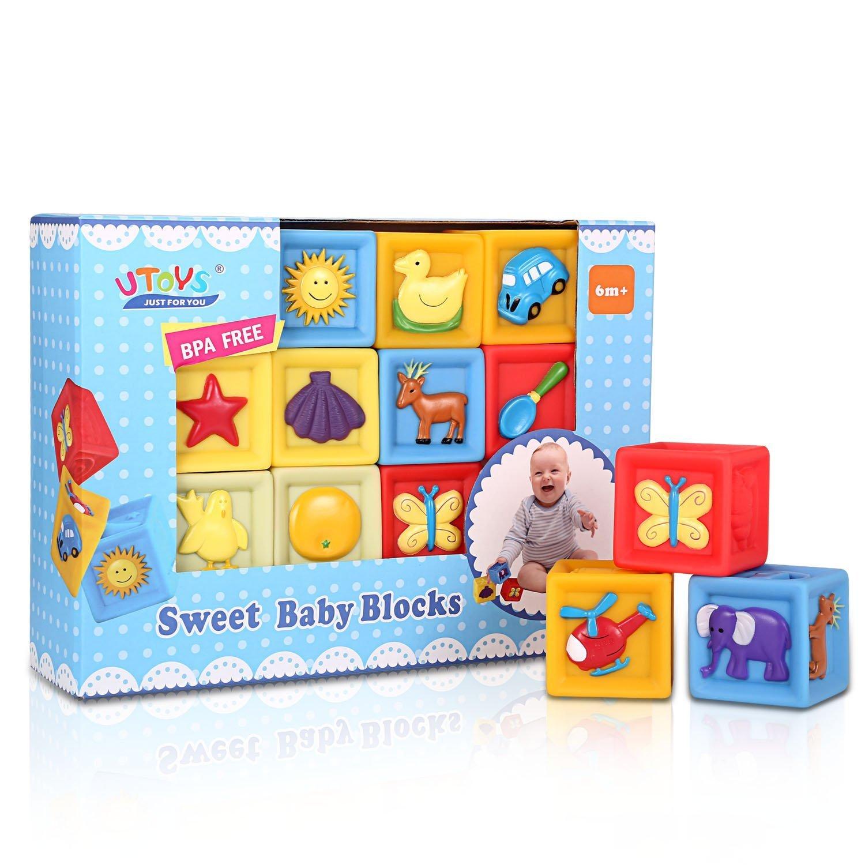 1歳未満 つみき 積み木 おもちゃ Bemixc 音の出る積み木