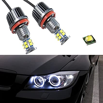 Brightest BMW 3 Series E92 E93 X5 E70 LUX ANGEL EYES HALO Rings Markers H8 White