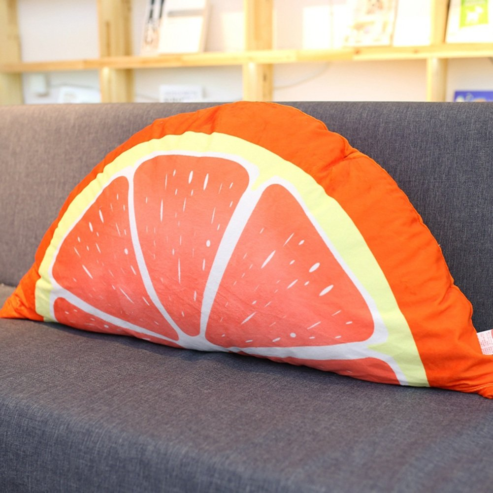 QIANGDA Bed Backrest/headboard Cushion Cartoon Soft Pillow Lumbar Support Princess Bedroom, 85 X 48cm, 4 Fruits Styles Optional (Color : Orange)