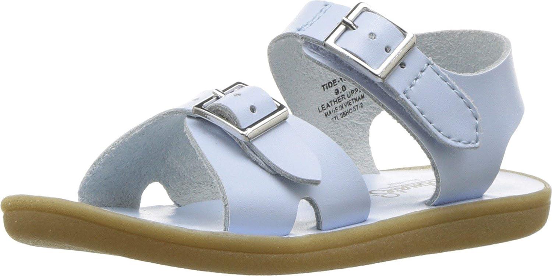 FOOTMATES Boy's Tide Hook-and-Loop and Buckle Sandal Light Blue - 1014