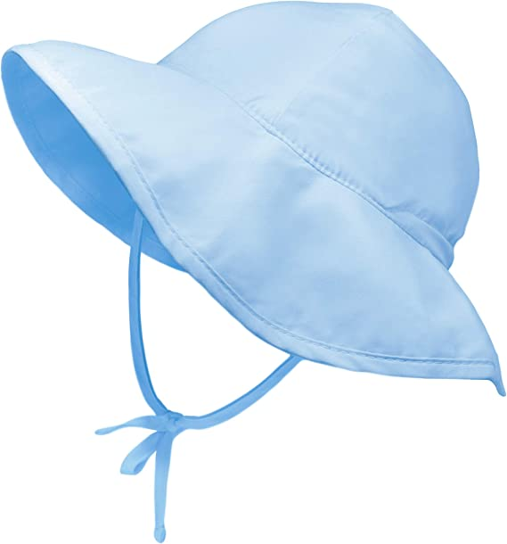 Baby Swiming Hat Bucket Sun Hat Chin Strap Fishing Hat Summer UV Protection Hat Toddler Kids