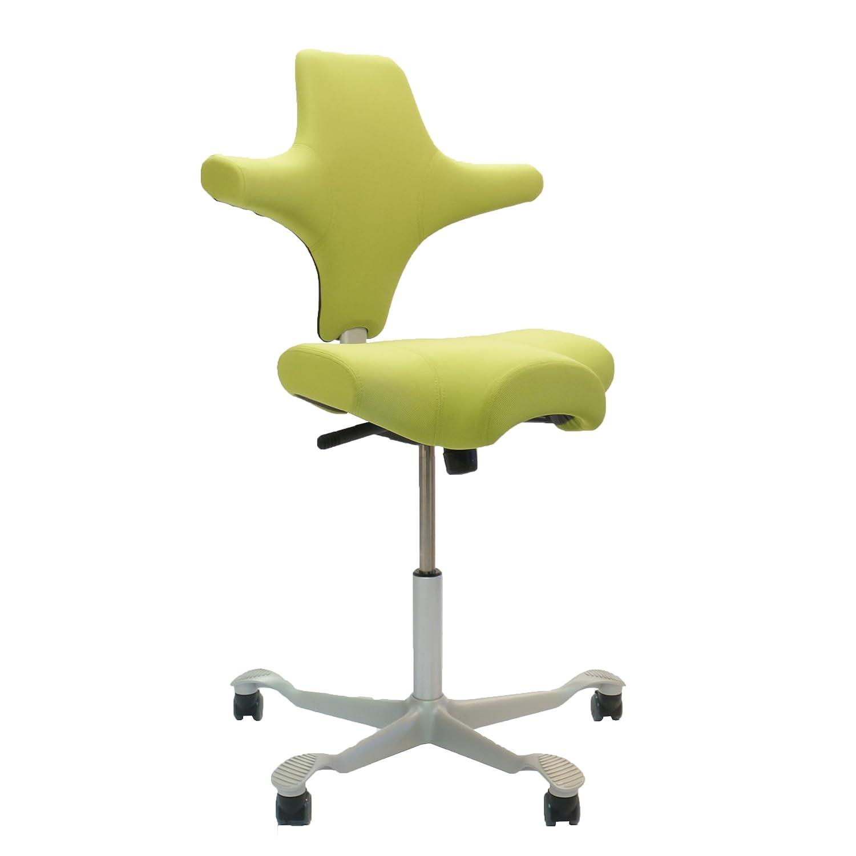 HAG Capisco 8106 Sattelsitz Bürostuhl in Nexus Green Stoff