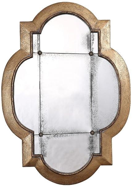 Amazon Com Uttermost 12931 Andorra Gold Leaf Mirror Home Kitchen