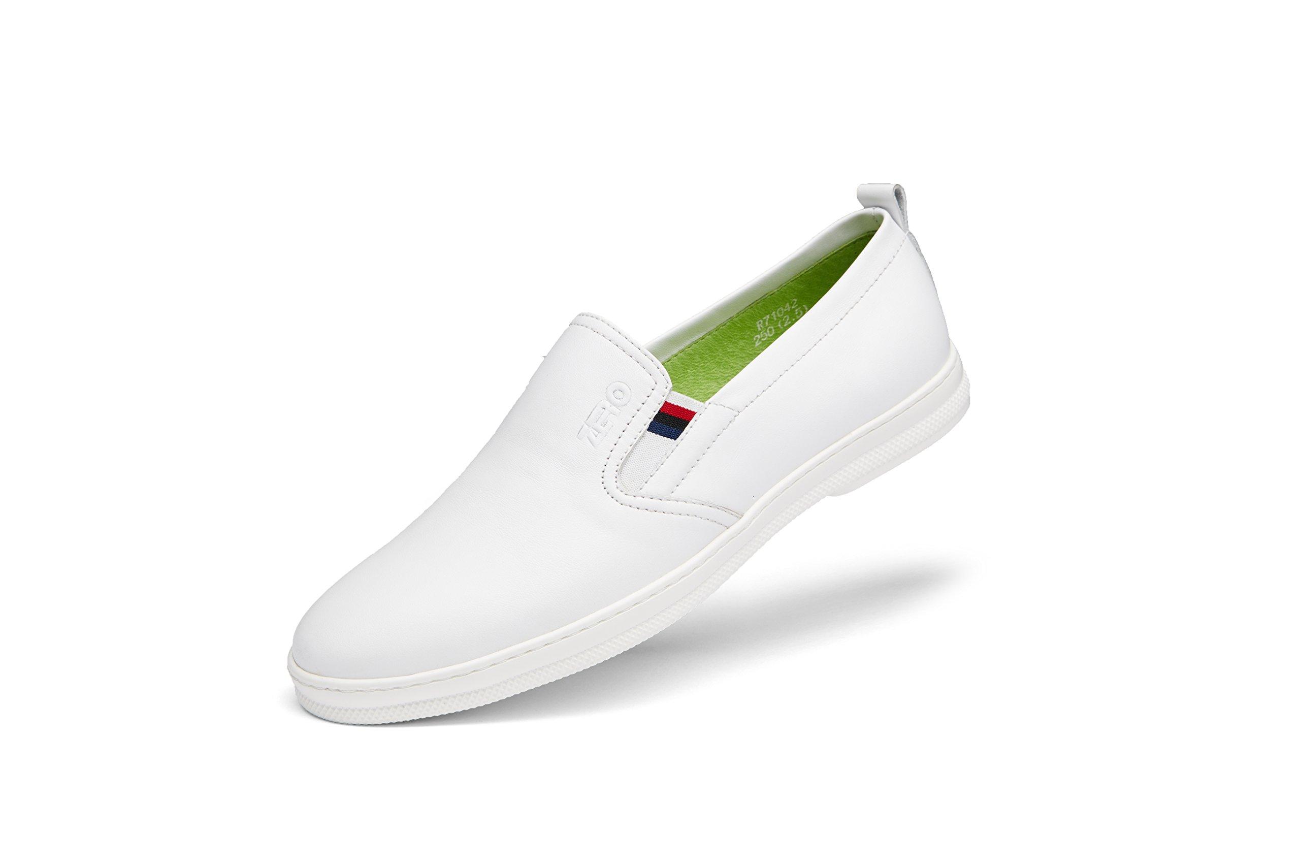 ZRO Men's Modern Slip-On Loafer Fashion Casual Walking Shoe White US 10