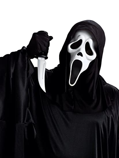 Scream Set Mega Disfraz con licencia oficial de Original Estados Unidos Scream Máscara, Cooler Negro