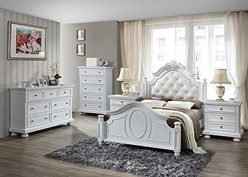 Worldwide Furniture Source Ltd Charles Solid Wood 5 Piece Bedroom