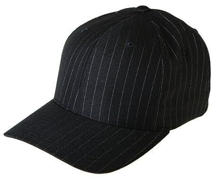 8f452f40afa12 Flexfit 6195P Stretch Twill Pinstripe Cap - Small Medium (Black White  Pinstripe)