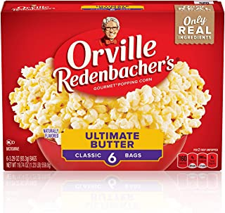 product image for Orville Redenbacher's Ultimate Butter Popcorn, (3.29 Ounce Classic Bag, 6 Packets), 19.74 Ounce