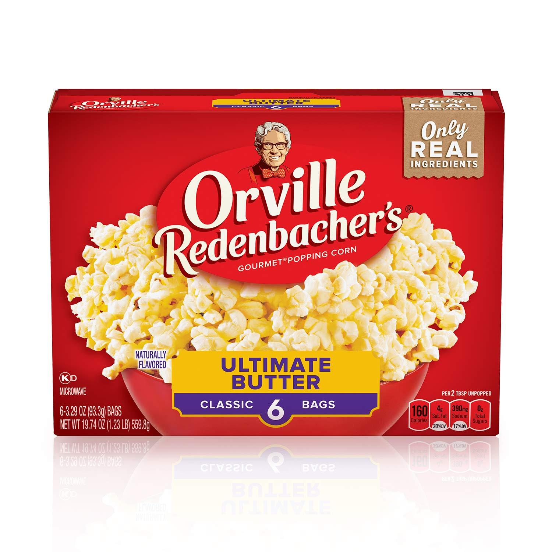 Orville Redenbacher's Ultimate Butter Popcorn, (3.29 Ounce Classic Bag, 6 Packets), 19.74 Ounce