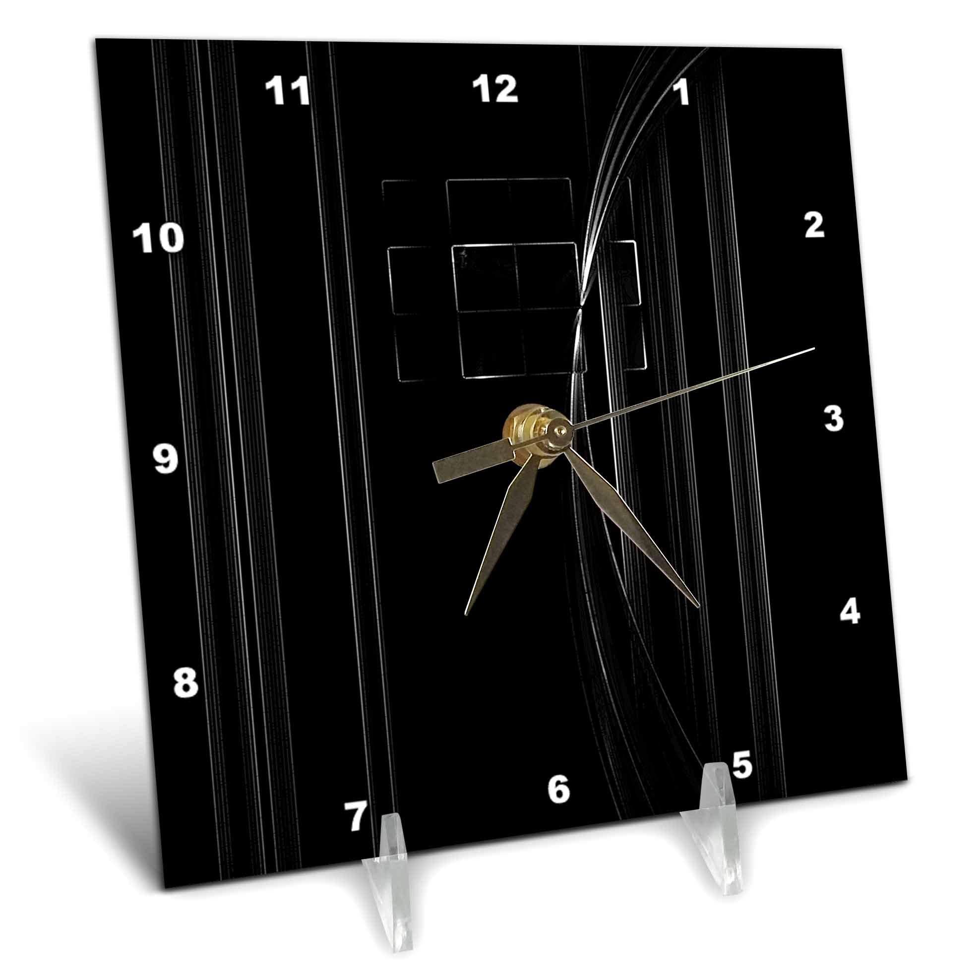 3dRose Digital Art by Brandi - Finding Light - Abstract of light coming through a window - 6x6 Desk Clock (dc_289205_1)