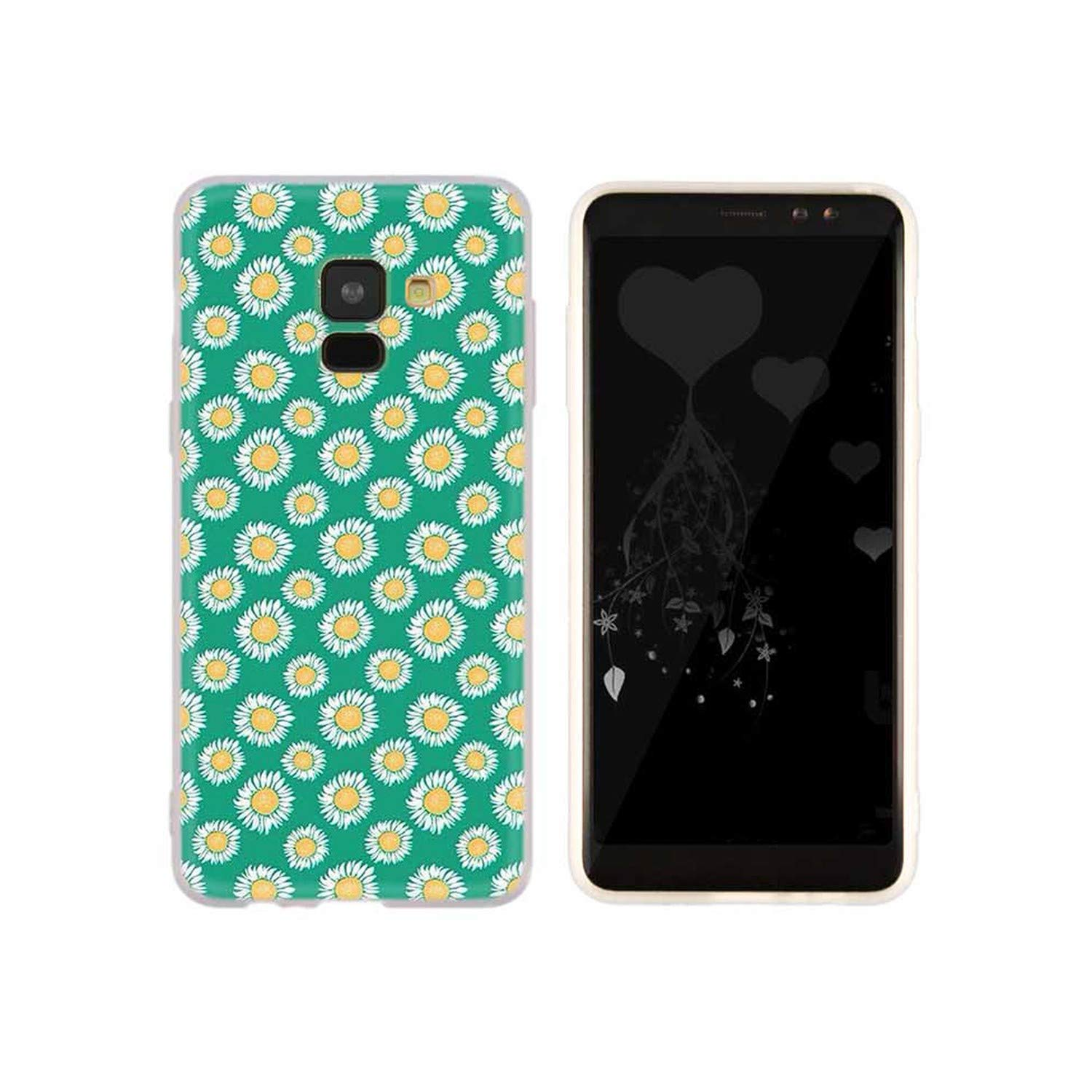 Amazon.com: 3D Cute Summer Daisy Case for Samsung Galaxy A8 ...