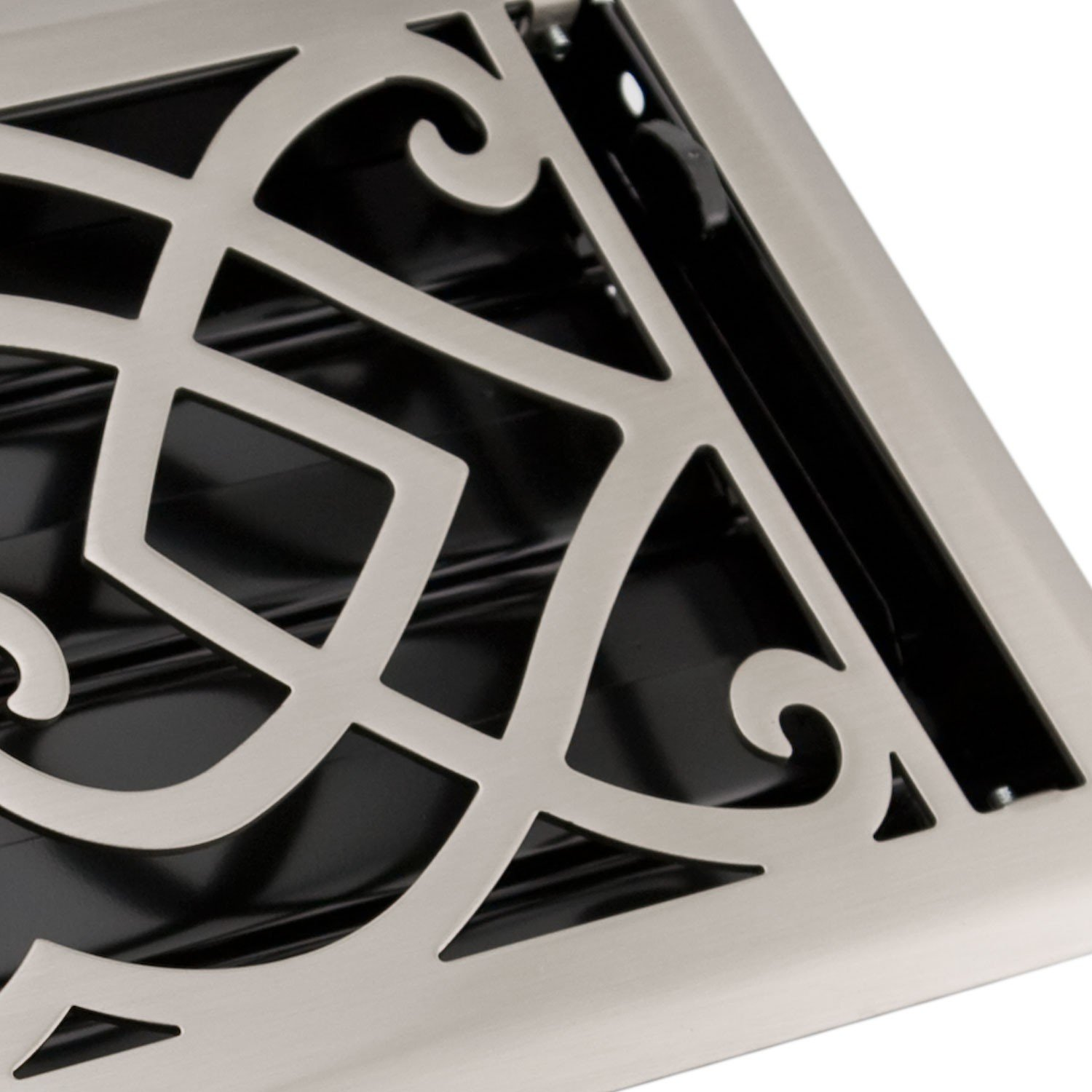 Naiture 6'' x 12'' Steel Wall Register Victorian Style Brushed Nickel Finish