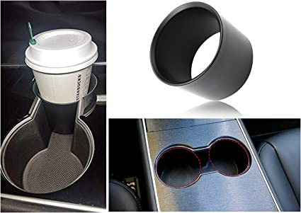 Convenient and Simple Cup Setting Tool Fit Most of Bottles Tesla Model 3 Cup Holder Insert Expander Adapter