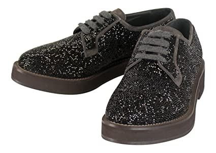 d82d43fe890cc0 Image Unavailable. Image not available for. Color  Brunello Cucinelli  Women s Black Swarovski Crystal Oxford ...