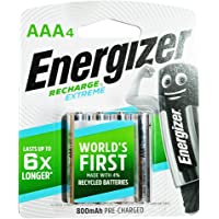 Energizer Recharge Extreme NH12ERP4 AAA (Packaging may vary), 4ct