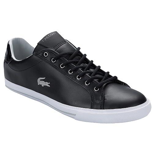 Lacoste - Zapatillas de Piel para hombre negro negro: Lacoste: Amazon.es: Zapatos y complementos