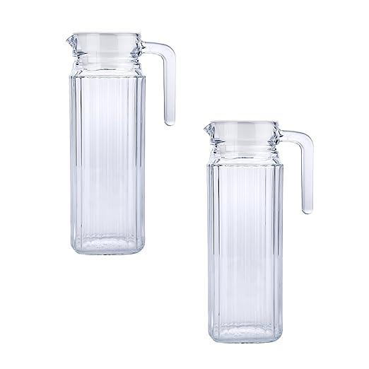 2 x vidrio jarra/jarra/jarras para nevera/agua jarra/jarras para ...