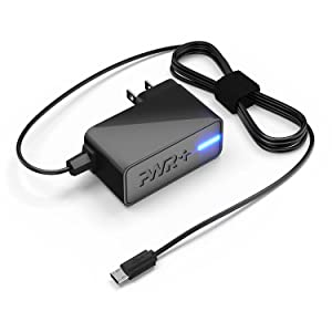 Pwr+ UL Listed 2.1A Charger for NVIDIA Shield K1, Nextbook 7 Ares 8 10A, CHUWI HI8, DigiLand, Hisense, Xiaomi, Huawei Phone and Tablet PC - Extra Long 6.7 Ft Power Cord