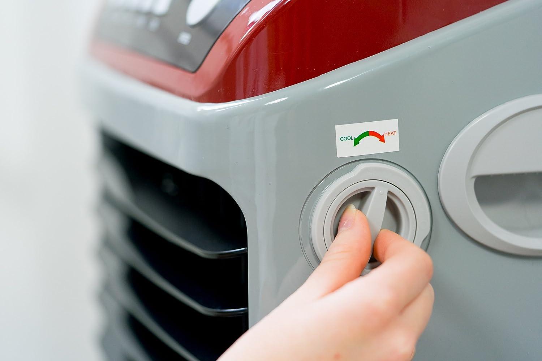 ECO-DE Climatizador Frio (70W) Calor (2Kw), portatil, Mando a Distancia, purificador, humidificador, Temporizador: Amazon.es: Hogar