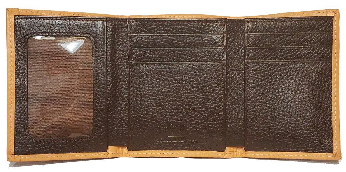 Custom Don't Tread On Me Ostrich Print trifold wallet by Genuine Texas Brand (Image #3)