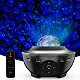 Star Projector,3 in 1 LED Ceiling Galaxy Light Projector,10 Colors 360°Rotational Dynamic Projections,Built-in Music…
