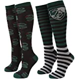 Harry Potter Striped Slytherin Serpent Women's 2-pack Knee High Socks