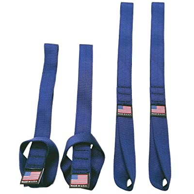 "Chase Harper USA - 2020 Powersport Series Soft Hook Tie Down Extenders - 1"" Marine Blue (set of 4) - 3,100 lb break strength/12,400 lb. combined - 14""L x 1""W: Automotive"