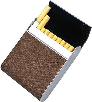 Estuche de Cigarrillos de Acero Inoxidable, Caja de Cigarrillos Netspower con Cerradura magnética de Metal 20 Piezas Estuche de Cigarrillos Estuche de Cigarrillos Estuche de Cigarrillos Elegante: Amazon.es: Equipaje