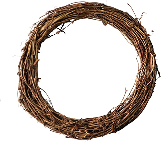 Dry Rattan Ring Wreath Accessories DIY Crafts Natural 13 Inch 15 Inch