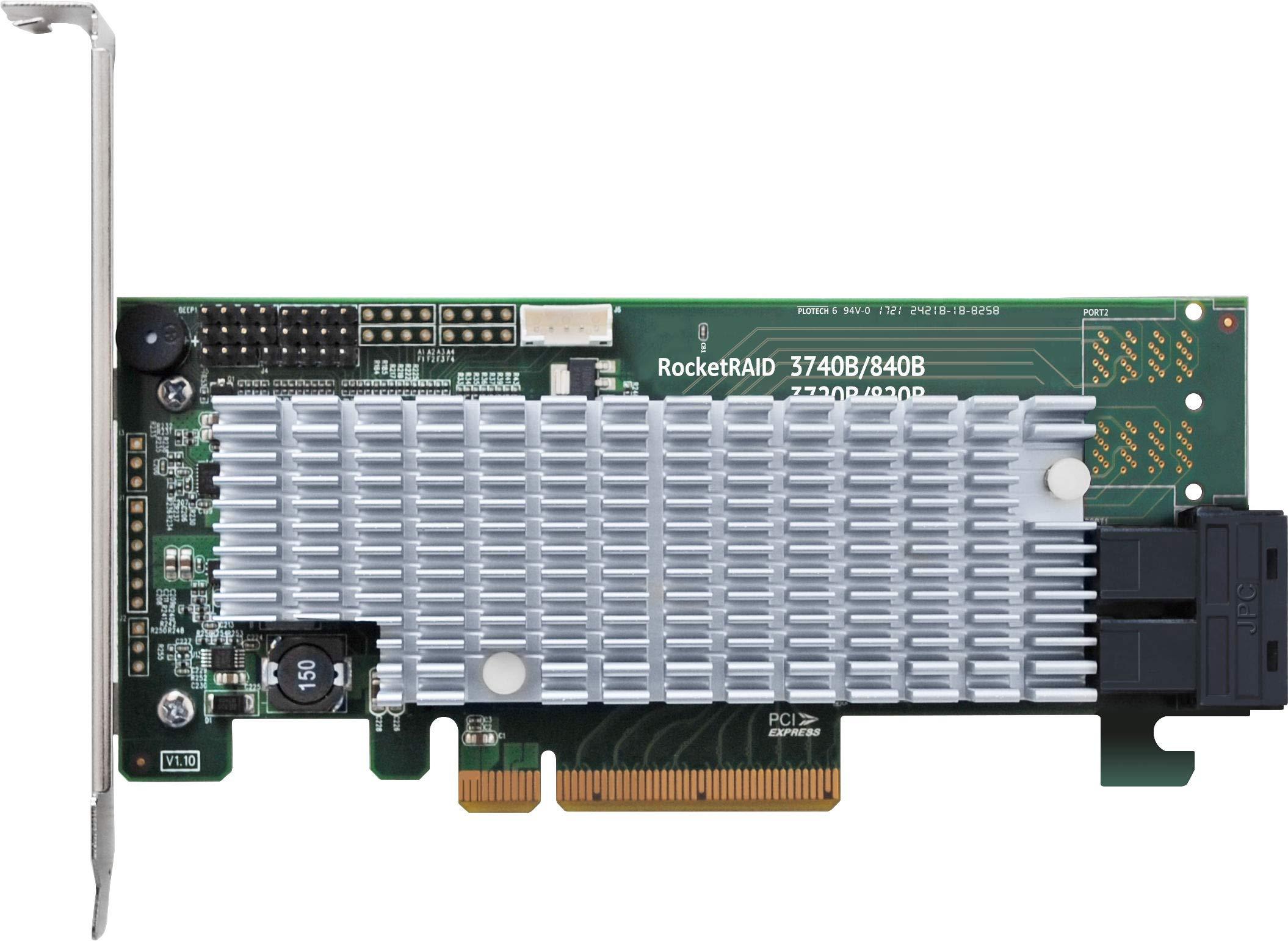 HighPoint RocketRAID 3720A 8-Channel 12Gb/s PCIe 3.0 x8 SAS RAID Controller by High Point