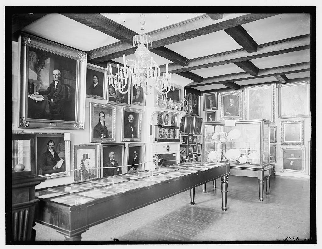 Vintography 24 x 30 Giclee Unframed Photo Marine Room East India Marine Hall Peabody Museum Salem Salem Mass 1910 Detriot Publishing co. 09a