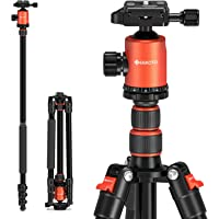 """Camera Tripod, Geekoto 77"""" Aluminum Tripod for DSLR, Monopod with 360° Panoramic Ball Head and 1/4 Inch Quick Release…"""