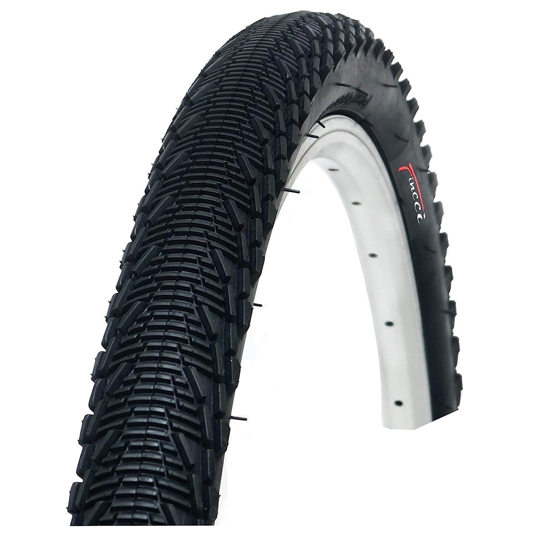 Fincci 26 x 1,95 Pouces 53-559 Pneu Lisses avec Protection Antiponcture Anti-Crevaison 2.5mm 60TPI pour VTT Route Montagne Hybride V/élo Bicyclette