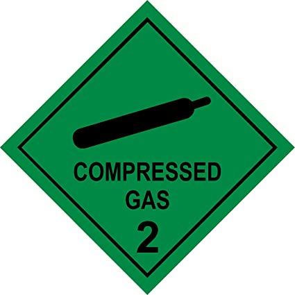 Sustancia peligrosa etiquetas gas comprimido Seguridad ...
