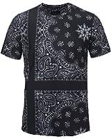(ピゾフ)Pizoff メンズ Tシャツ 半袖 3Dプリント おしゃれ ストリート Tシャツ