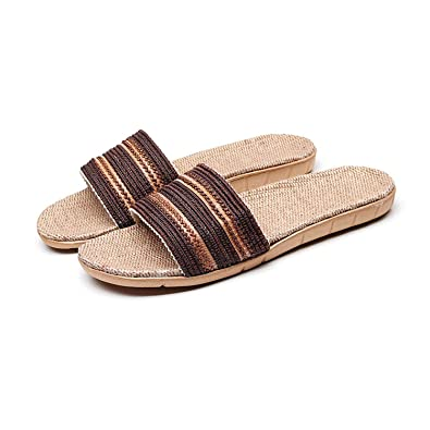 0363588342c63 Amazon.com | K&shop Soft Slipper Comfort Men's Anti-Slip of Linen ...