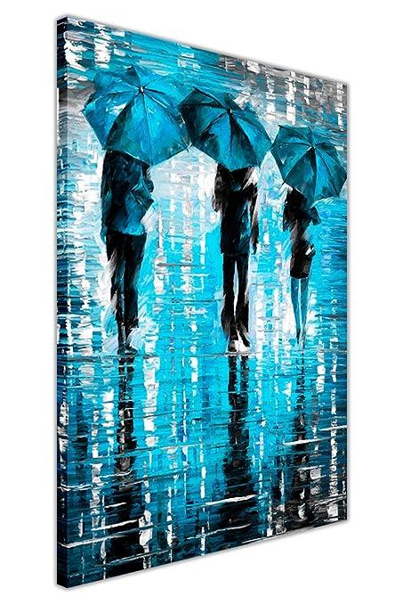 The Blue Umbrella Art Deco Poster A3 A2 A4 sizes A1