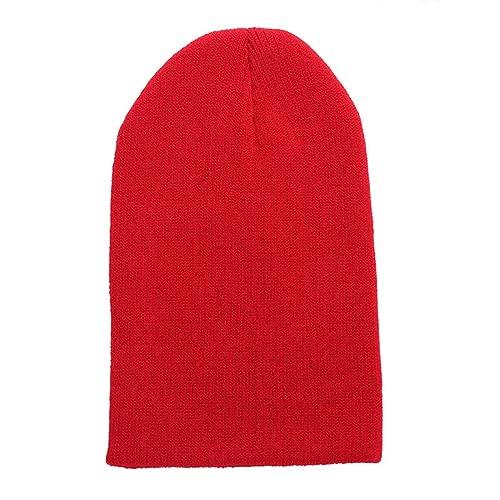 MTTROLI - Gorro de punto - para mujer Rojo rosso Talla única