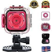 TOPELOTEK Kids Digital Waterproof Mini Action Camera with 1.77
