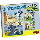 Haba 300185 - 3 Puzzles mit Quatsch - Polizei, Feuerwehr