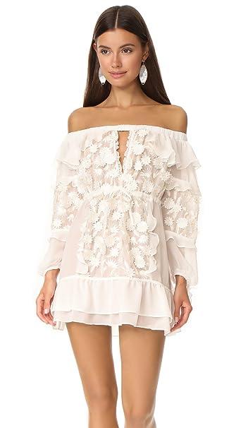 f9465ccbba83aa For Love & Lemons Women's Dress Off Shoulder Tunic - White -: Amazon ...
