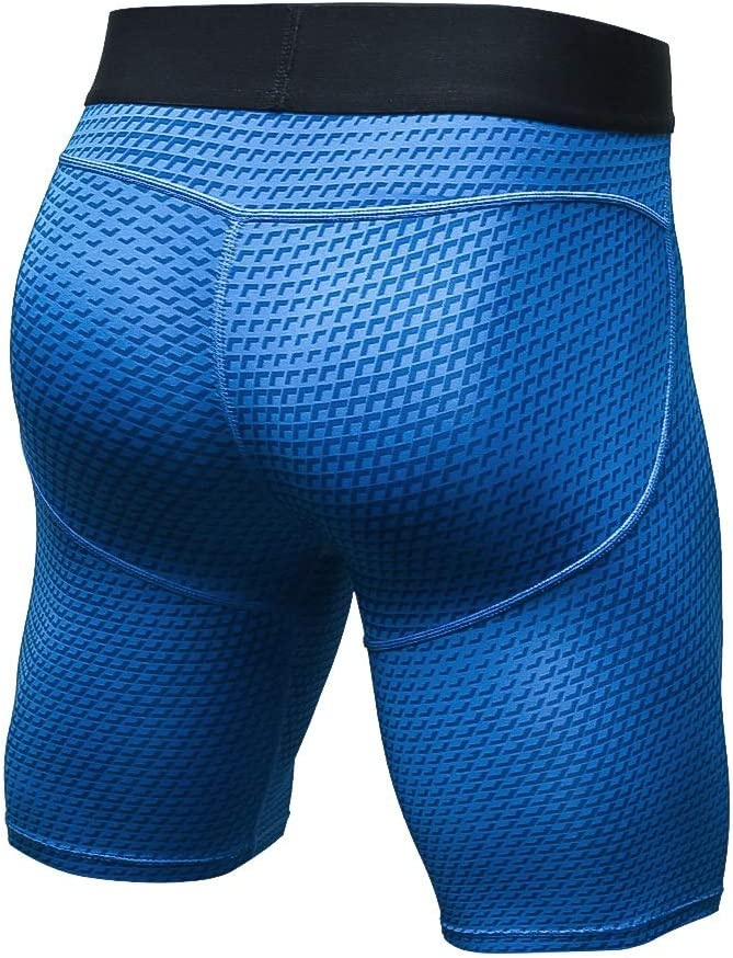 Color : Blue, Size : M Goldt1 Mens Compression Shorts Thermal Cool Dry Running Tights Baselayer Sports Leggings Tummy Control Workout Running Athletic